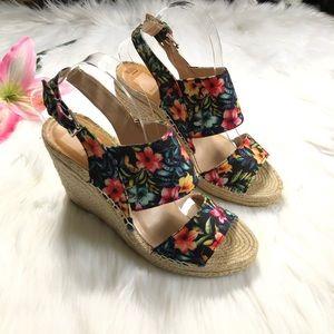 da73382f89f Dolce Vita Shady Floral Espadrille Wedge Sandal 10